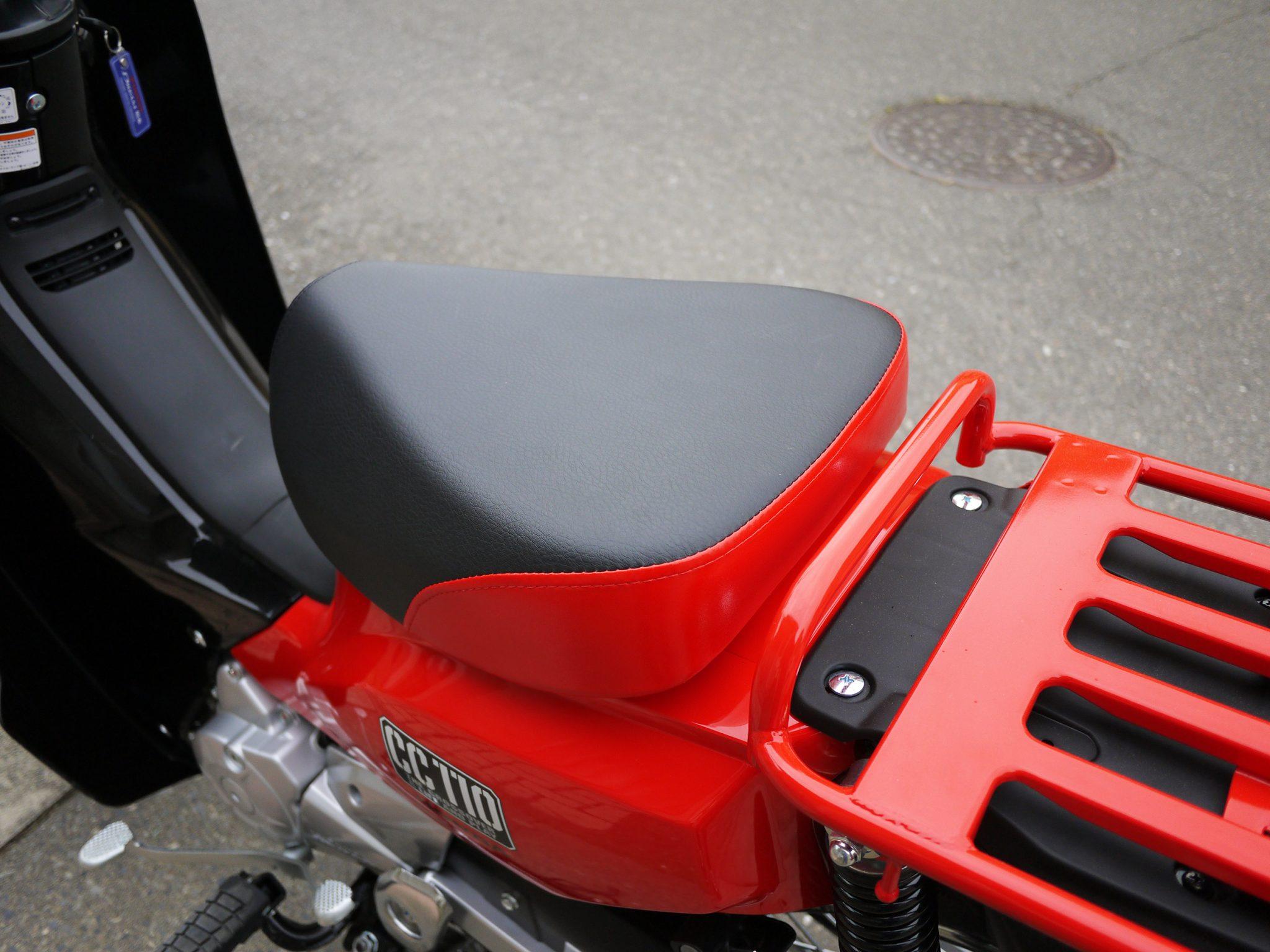 クロスカブ(CROSS CUB)の車高調整、 足つき改善 アウトスタンディング シングルシート S36T