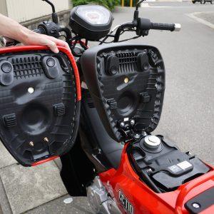 クロスカブ(CROSS CUB)の車高調整、 足つき改善 アウトスタンディング シングルシート S36T 取付